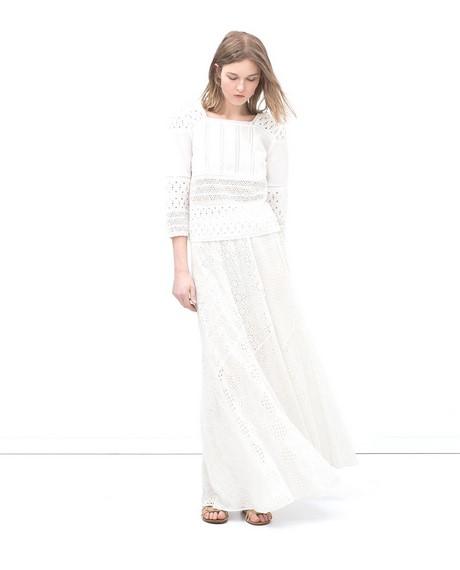 7bebc053580 Robe Dentelle Zara Avec Robe Longue Blanche Zara 2018 Robes La Mode