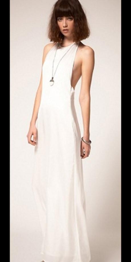Robe maxi blanche for Robe maxi blanche mariage