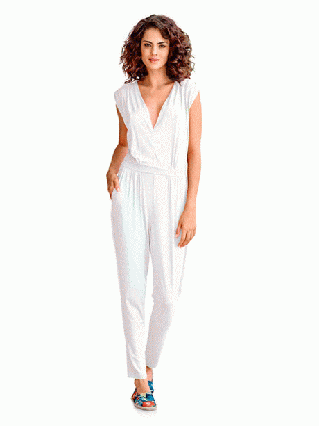 Combinaison femme blanche - Combinaison pantalon femme chic ...