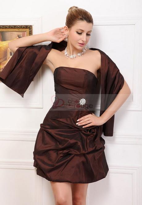 Robe de soirée courte ballon taffetas orné de strass – robe de