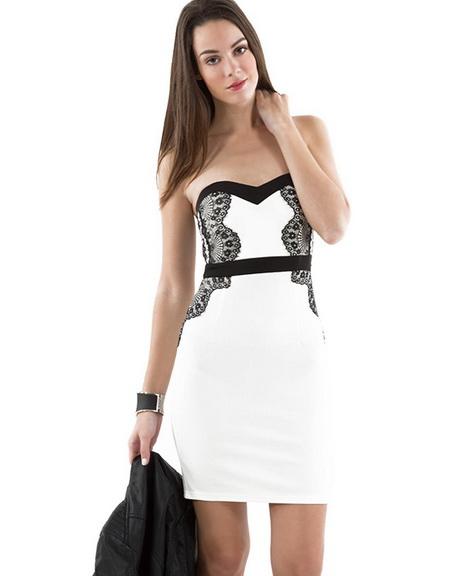 Robe blanche et noire mim