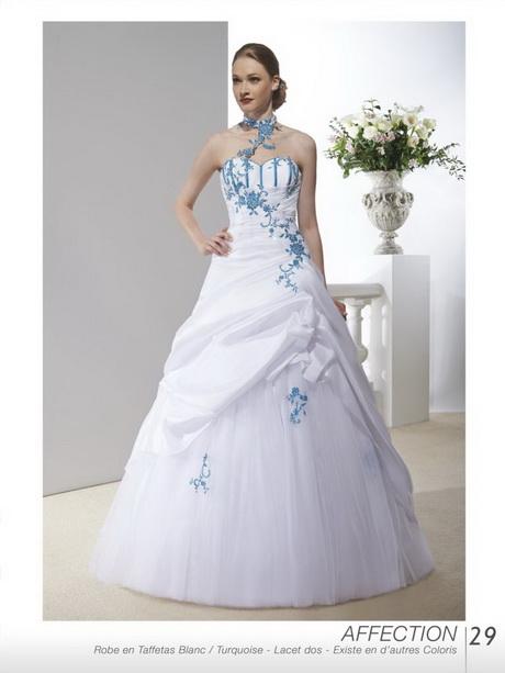 robe de mariee blanche et turquoise. Black Bedroom Furniture Sets. Home Design Ideas