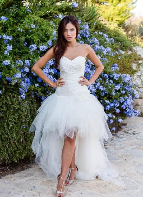 Nouvelle tendance à suivre-Robe de mariée courte devant longue