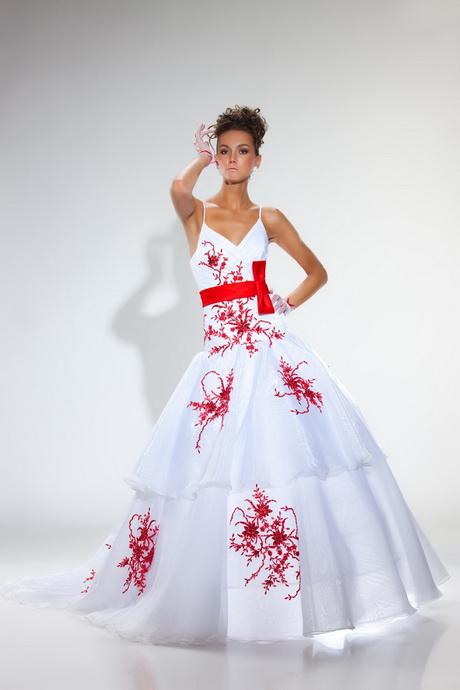 robe de mariee rouge et blanc. Black Bedroom Furniture Sets. Home Design Ideas