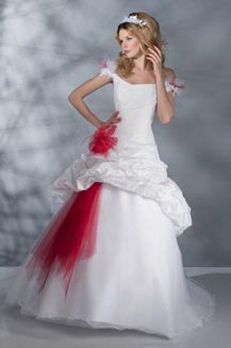 Me Suis Mariee Rouge Blanc Robe Mariee Etait Originale Montrez 310863 ...