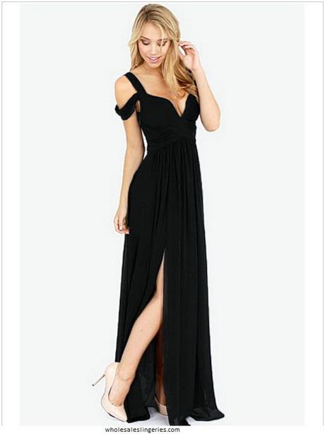 robe longue fendue. Black Bedroom Furniture Sets. Home Design Ideas