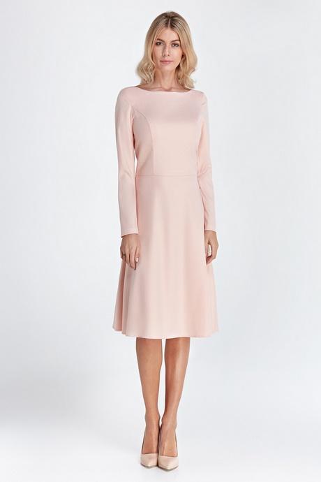d225c53b886 Robe midi manches longues – Jupe trapèze évasée – Style minimaliste