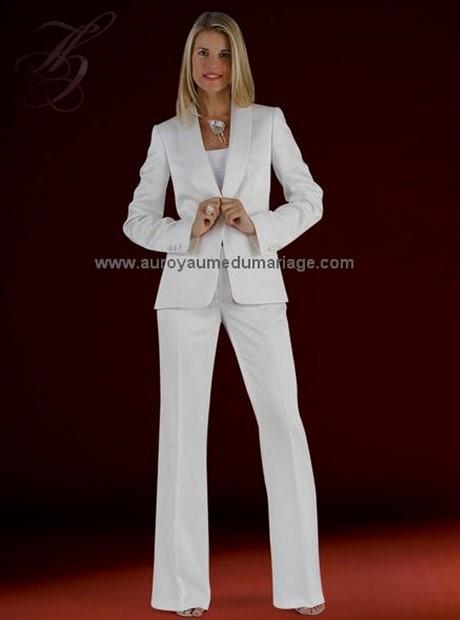 Blanc Tailleur Femme Pantalon Blanc Pantalon