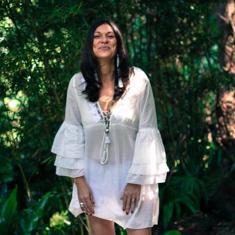 Robe tunique blanche - Robe blanche hippie chic ...