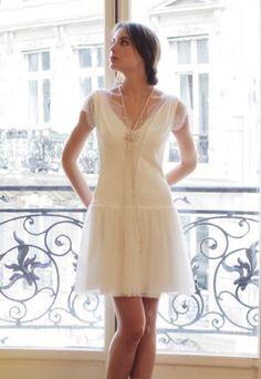 robe courte blanche mariage civil. Black Bedroom Furniture Sets. Home Design Ideas