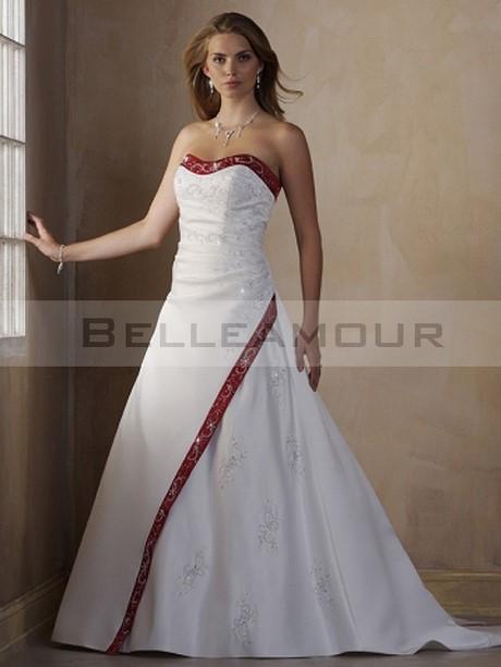 robe de mari e rouge et blanche courte. Black Bedroom Furniture Sets. Home Design Ideas