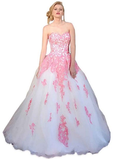 robe de mari e blanche et rose