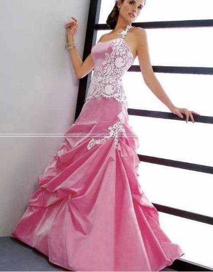 robe de mariee rose et blanche. Black Bedroom Furniture Sets. Home Design Ideas