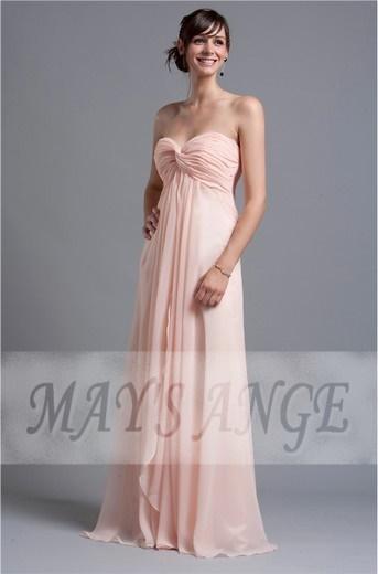 robe longue rose pastel. Black Bedroom Furniture Sets. Home Design Ideas