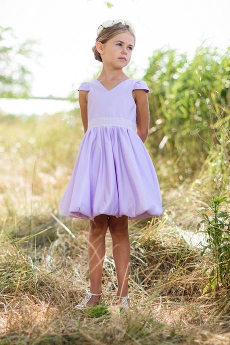 Robe ceremonie fille violette for Fille fleur robes mariage