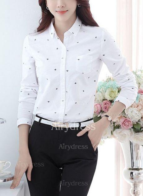 Chemises Coton Femme 2018 Blanc Bloc De Couleur Charte Des Couleurs 970c882b6572