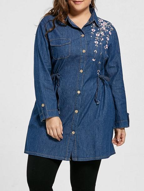 Chemise longue jeans femme   Sodeports 22d6693a761e