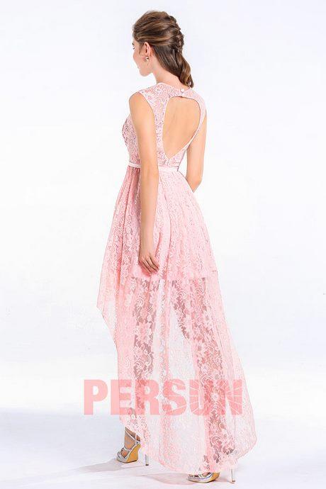 abde7c490a7 Robe rose courte devant longue derriere