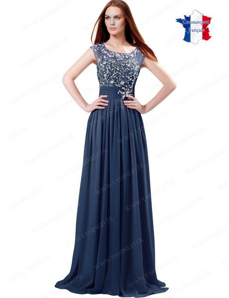 89c6fe37eca04 Robe longue de cérémonie sobre et simple… Robe de soirée longue bleu nuit  foncé
