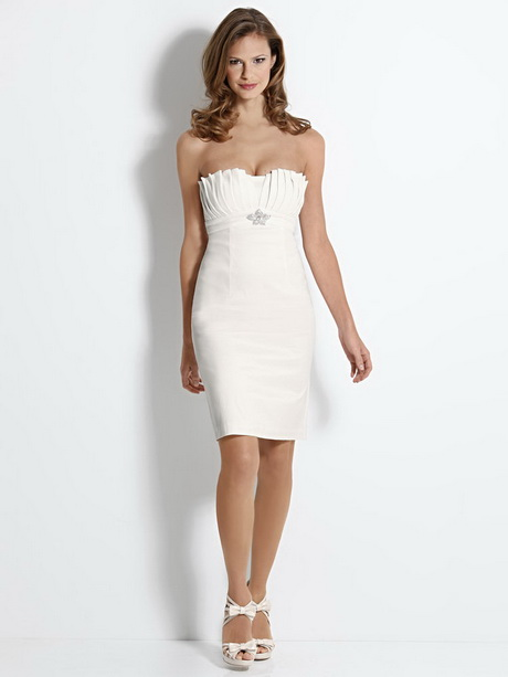 taille 40 eaaad fe4a3 Robe bustier blanc courte