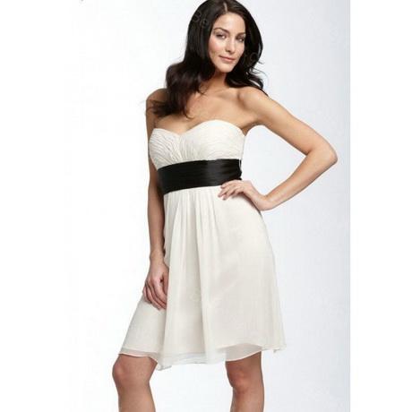 robe bustier blanche et noire. Black Bedroom Furniture Sets. Home Design Ideas