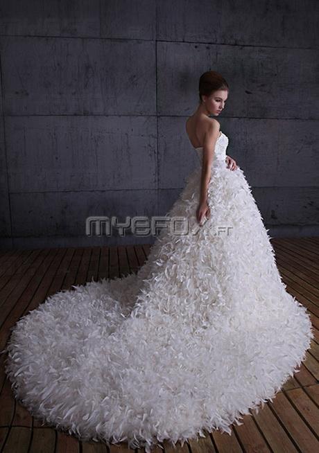 Robe de mariée de luxe col du bustier décorée avec perle de