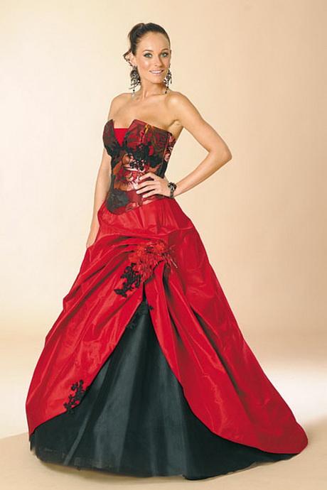 Robe De Mariee Noir Ou Rouge Et Blanche Sunny Mariages Robe De ...