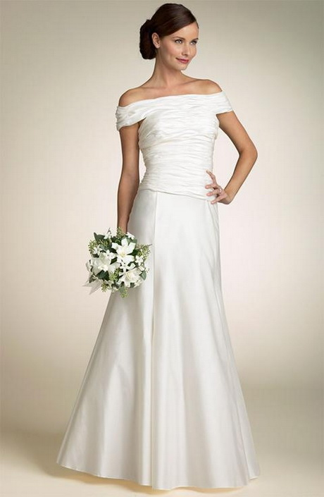 Robe de mariée Simple avec bretelles aux épaules