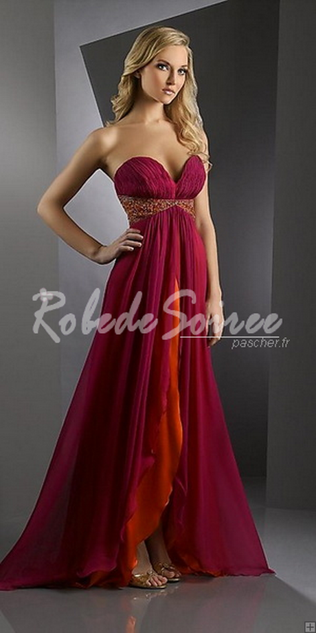 Robe de soiree en mousseline
