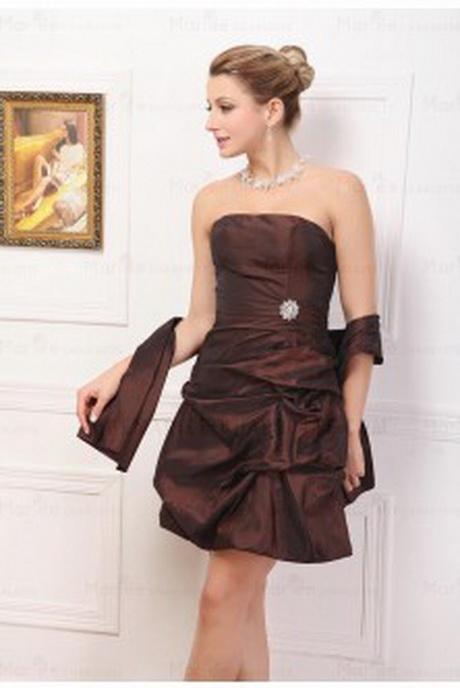 Robes de soire marron Maysange - Robes de cocktail