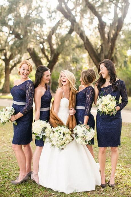Robe demoiselle d honneur mariage for Navy dress for fall wedding