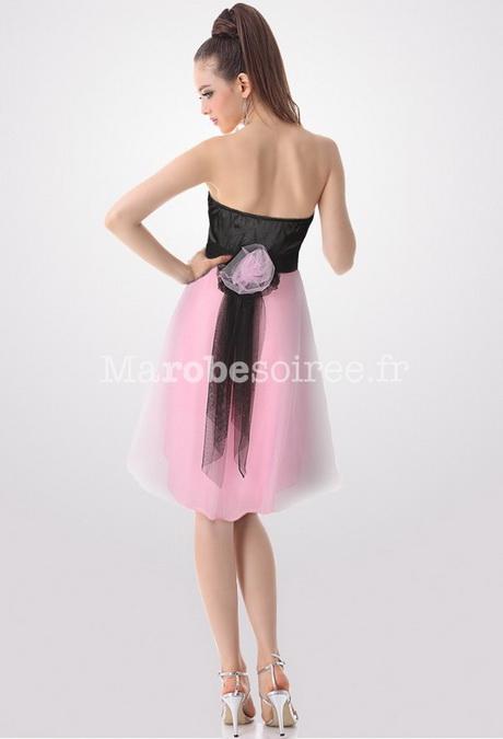 8eb651fbf14 Robe de cocktail courte noir et rose style princesse