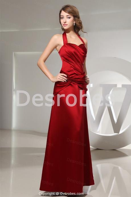 robe rouge satin. Black Bedroom Furniture Sets. Home Design Ideas