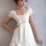 Robe cocktail courte blanche