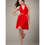 Robe cocktail courte rouge