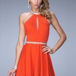 Robe cocktail orange