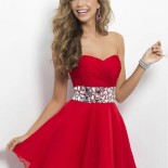 Robe de cocktail courte rouge