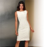 Robe blanche fourreau