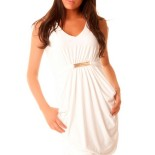 Robe blanche pour femme