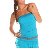 Robe bustier a volant