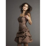Robe bustier marron