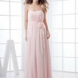 Robe bustier rose pale