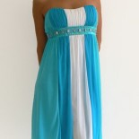 Robe bustier turquoise
