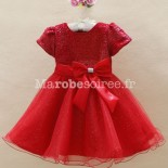 Robe ceremonie fille rouge