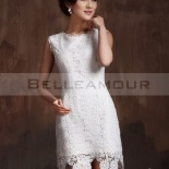 Robe cocktail dentelle blanche