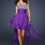 Robe cocktail violette