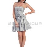 Robe courte grise