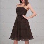 Robe de cocktail chocolat
