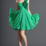 Robe de cocktail verte