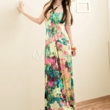 Robe longue multicolore